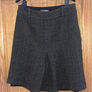 Ann Taylor Wool Plaid Skirt